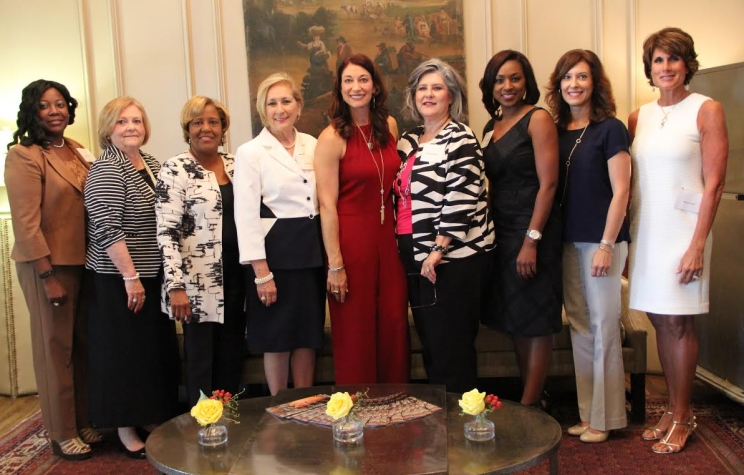 The Women's Division of the Chamber of Commerce of West Alabama Board Members are (L to R): Sherrie Jones, Susan Hathorne, Melissa Davis, Linda Pruett, Dana, Kimberly McMurray (President), Tamika Alexander, Stephanie Hudson and Susan Randall (President Elect).