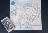 This turkey placemat is perfect for keeping kids entertained at the Thanksgiving kids' table. (Available at Kyle Fine Stationary in Tuscaloosa)