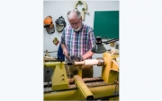 George Shelton teaches a woodturning class at OLLI.