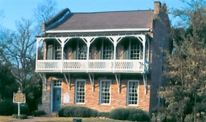 The Old Tavern, built in 1827 as an inn and stage coach stop, was moved from the area  between the two downtown bridges on what is now University Blvd to itspresent site  at Capitol Park in 1966 the year of the creation of the Tuscaloosa County Preservation  Society. The Old Tavern is one of the Preservation Society's properties.The Old Tavern, built in 1827 as an inn and stage coach stop, was moved from the area  between the two downtown bridges on what is now University Blvd to itspresent site  at Capitol Park in 1966 the year of the creation of the Tuscaloosa County Preservation  Society. The Old Tavern is one of the Preservation Society's properties.