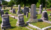 The Glascock family plot in Greenwood Cemetery. Seven Glascock children are buried near their parents.