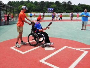 Tuscaloosa's Miracle League teams play on a custom-designed, rubberized turf field that accommodates wheelchairs and other assistive devices while helping to prevent injuries. The new season starts on Saturday.