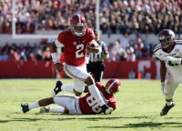 No. 1 Crimson Tide survives test from No. 6 Aggies, loses Jackson for rest of season with leg injury (via Crimson Magazine)