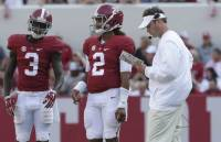 Lane Kiffin, Crimson Tide offensive standouts meet with Peach Bowl media (via Crimson Magazine)